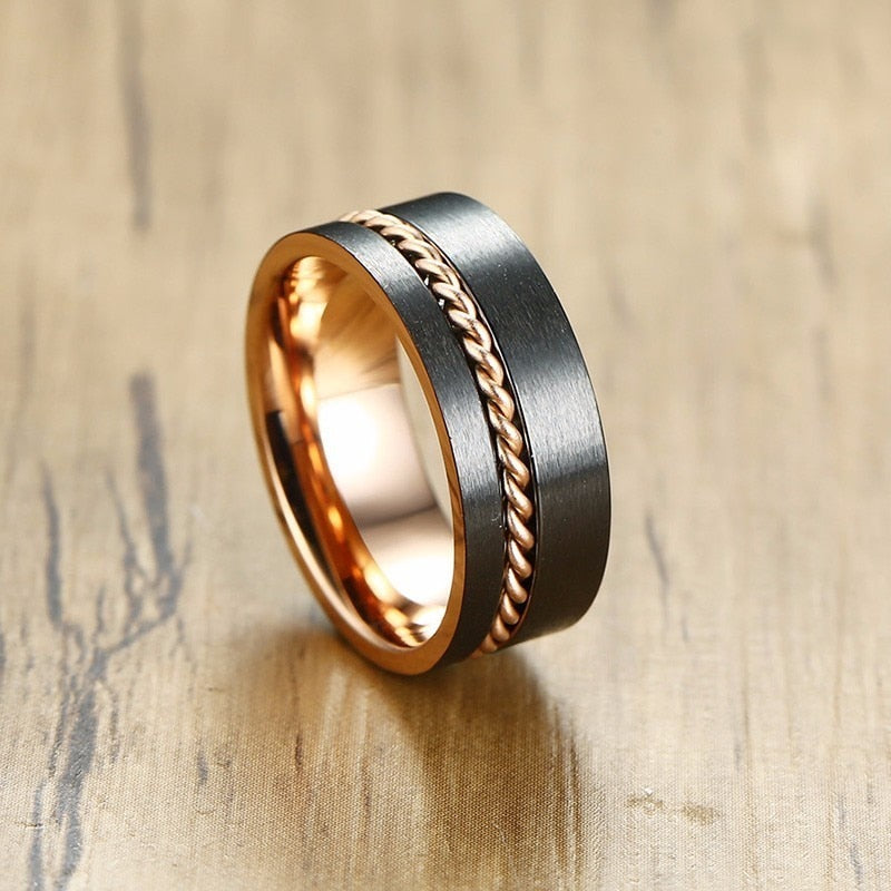 Product Exchange page of Rose Gold Chain Tungsten Ring