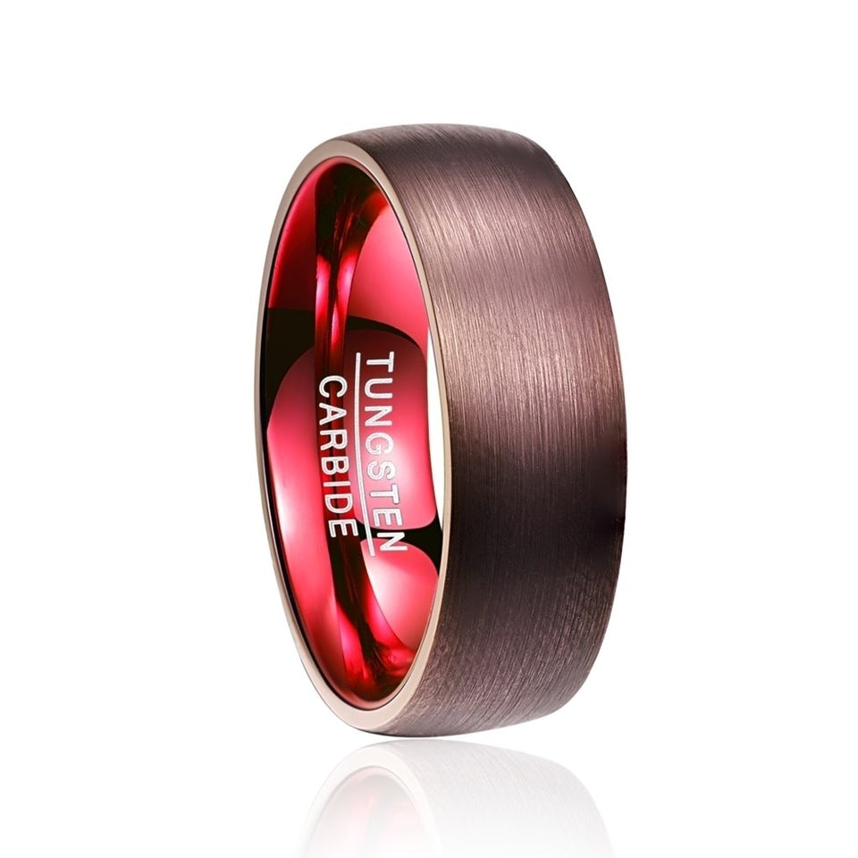 Plated Red Dome Wedding Band