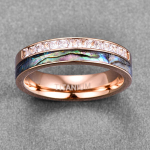 Product Exchange Page for - Rose Gold Crystal Stainless Steel Ring