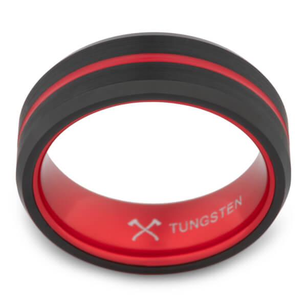 Product Exchange Page for Fire Stripe Tungsten Carbide Ring