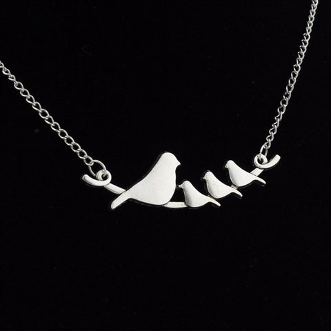 Bird Family Pendant Necklace
