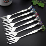 Gem-studded Fork and Spoon Cutlery