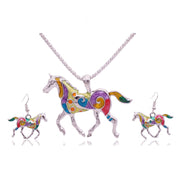 Wild Horses Necklace + Earrings Set