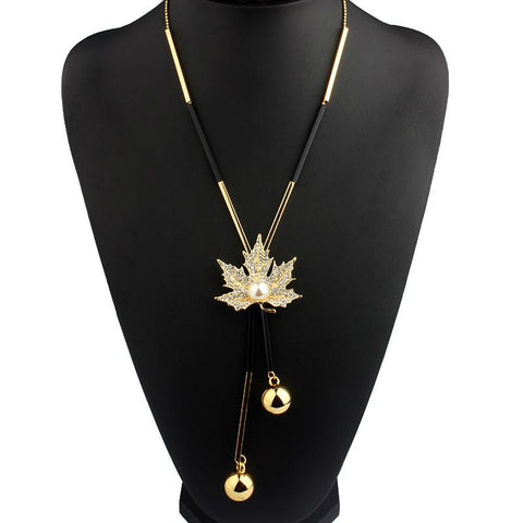 Maple Leaf Drop Necklace