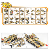 16 in 1 Mega Tank Building Block Kit (544pcs)