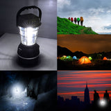 Solar/Crank/Battery-operated 5-in-1 36 LED Lantern