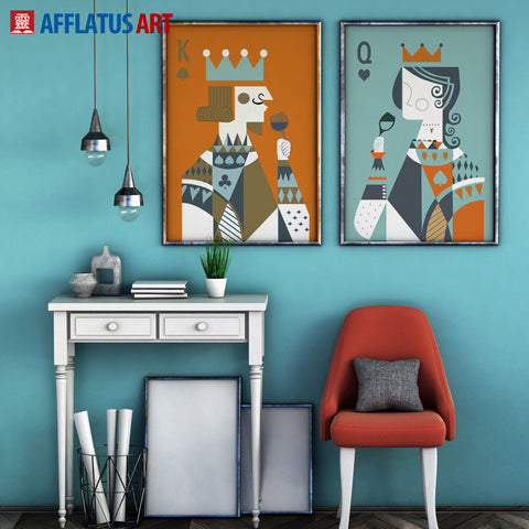 King & Queen Playing Card Wall Hangings