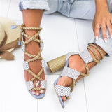 LilithEffie™ Lace Up Sandals