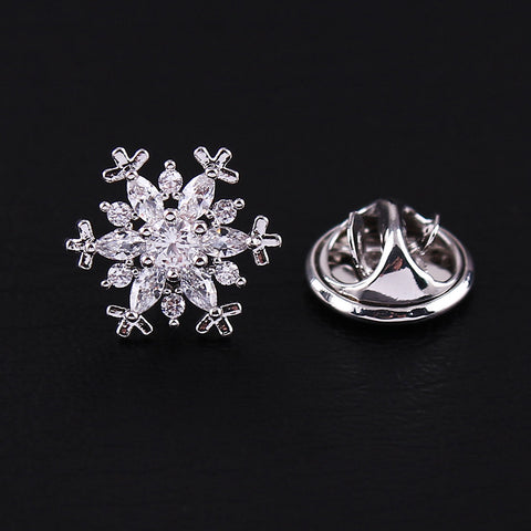 Snowflake Crystal Flair Pin