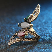 Jeweled Scarab Ring