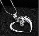 Horse Heart Pendant Necklace