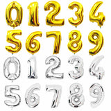 Giant Number Balloons (Gold/Silver)