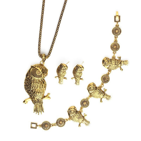Owl Necklace/Earrings/Bracelet Premium Metal Collection