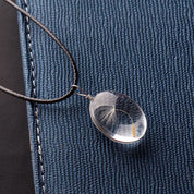 Dandelion Seed Pendant Necklace