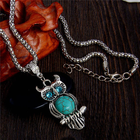 Magician's Friend Owl Pendant Necklace