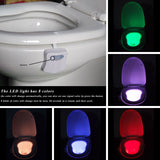 Motion Activated Colorful LED Toilet Light