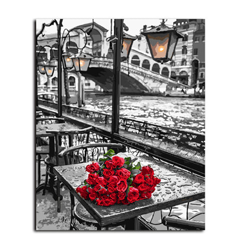 "Roses on the Seine (Complete ""Paint by Numbers"" Starter Kit)"