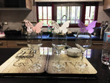 Fancy Butterfly Wine Glass Decorations (50 Pack)
