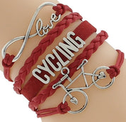 Love Cycling Bicycle Infinity Bracelet