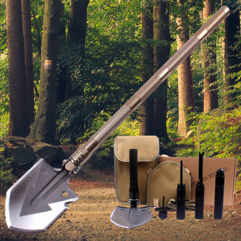 Outlaster™ 15-in-1 Survival Shovel Toolkit