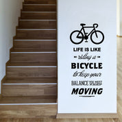 """Life Is Like Riding A Bicycle"" Wall Decals"