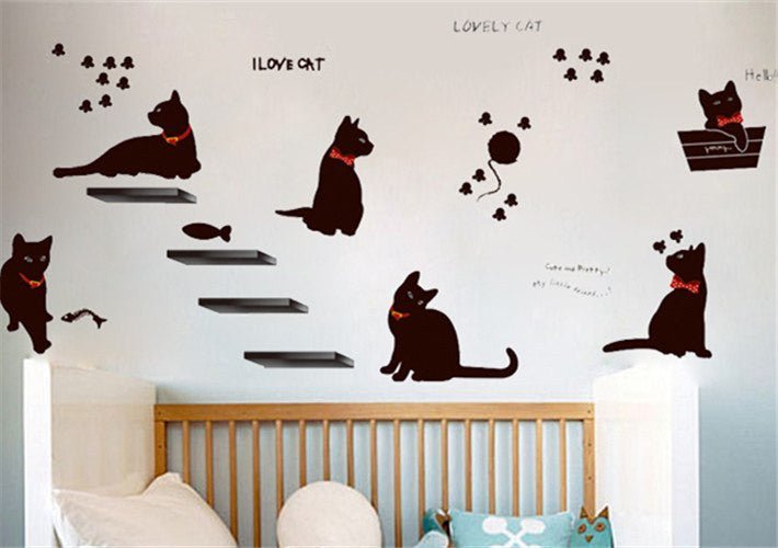 Vinyl Cat Wall Stickers