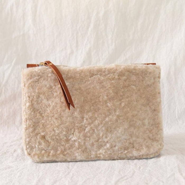 Medium Shearling Pouch