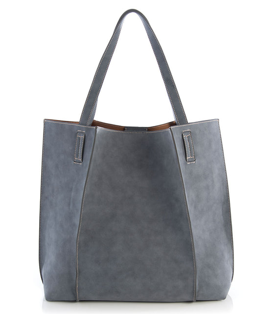 Shiraleah Blair Everyday Tote in Steel - Lounge Beauties