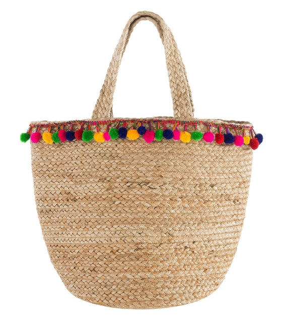 Shiraleah Santana PomPom Tote - Lounge Beauties