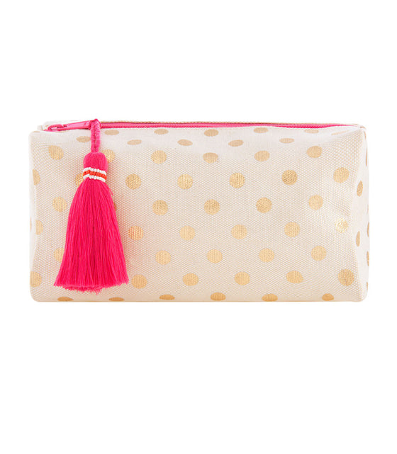 Shiraleah Dotty Boxy Cosmetic Pouch - Lounge Beauties