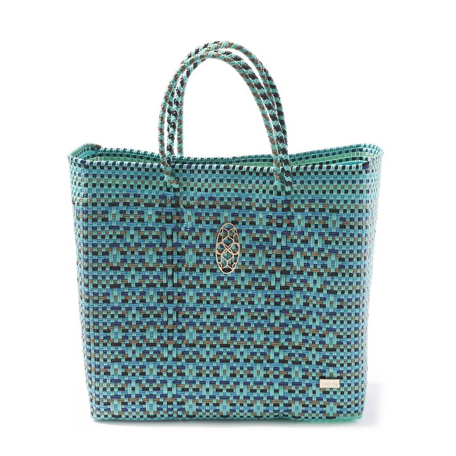 Lola's Oaxaca Tote in Turquoise - Lounge Beauties