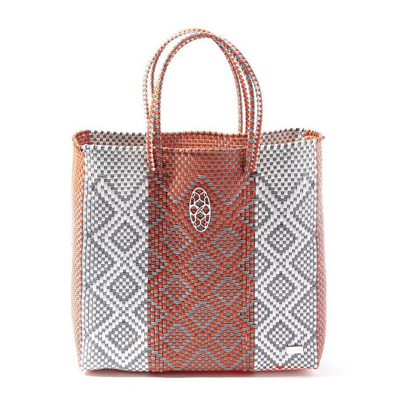 Lola's Oaxaca Tote in Orange & Gray - Lounge Beauties