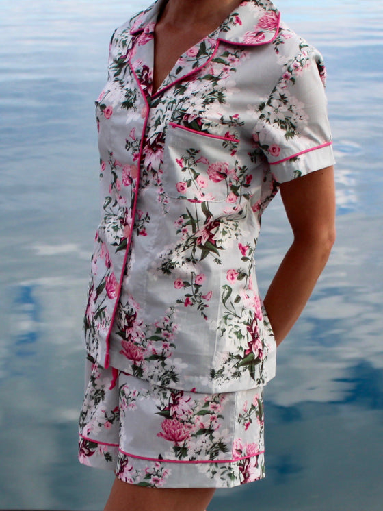 Bedhead Flower Cart Voile Classic Short PJ Set - Lounge Beauties