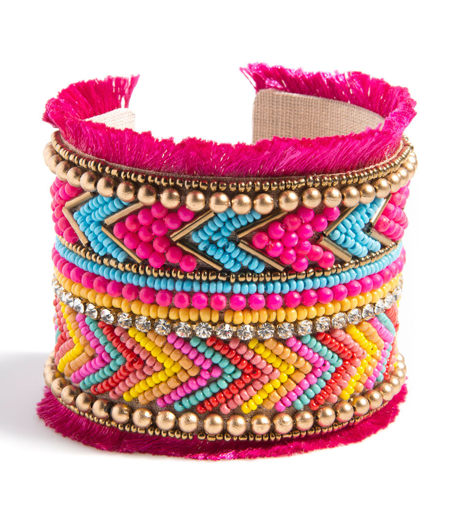 Shiraleah Santa Maria Cuff Bracelet in Bold Pink - Lounge Beauties