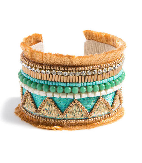 Shiraleah Santa Maria Cuff Bracelet in Turquoise - Lounge Beauties