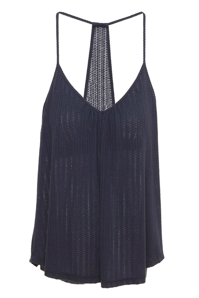 Eberjey Baxter T-Back Cami W/Shelf Bra in Blue Nights