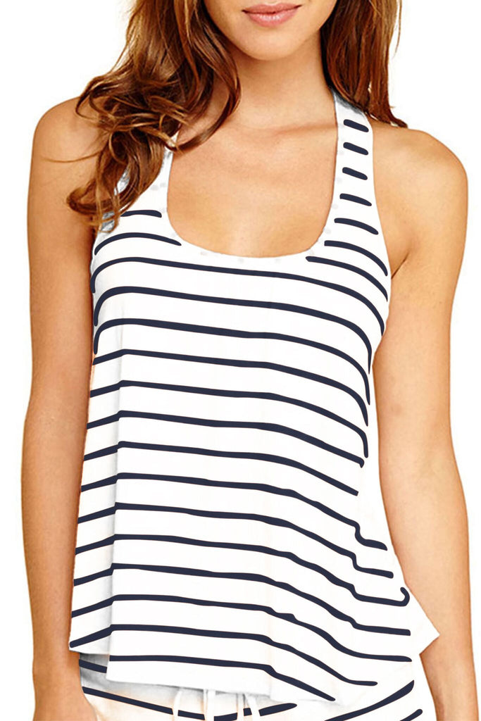 Eberjey Lounge Stripes Racerback Tank - Lounge Beauties