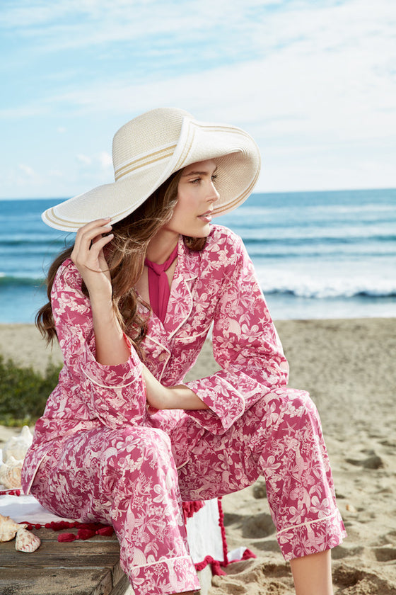 BedHead Fuchsia Under the Sea Classic Long PJ Set - Lounge Beauties