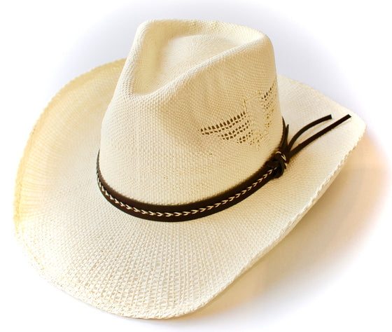 Handwoven Cowgirl Sun Hat in Ivory