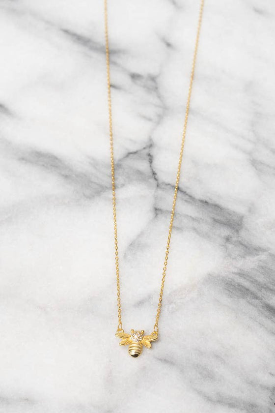 Abeille Necklace - 925 Silver - 18k Gold Plating