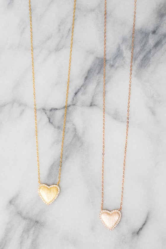 Herieth Heart Necklace - 18k Gold Plating - .925 Silver