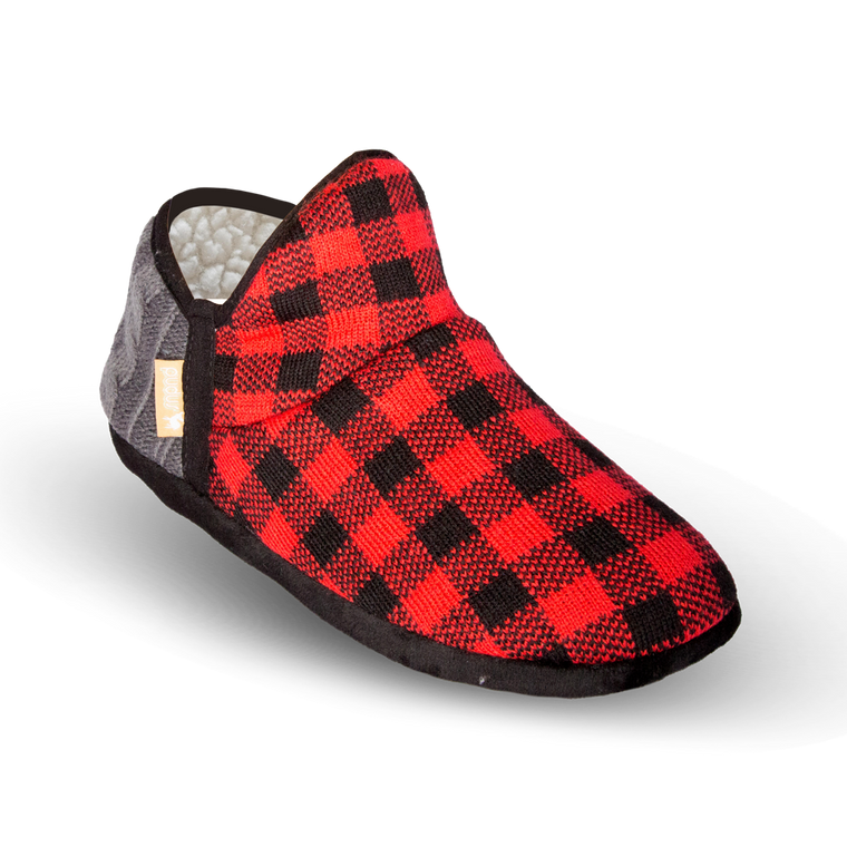 Pudus Brodie Slipper - Red Lumberjack - Lounge Beauties