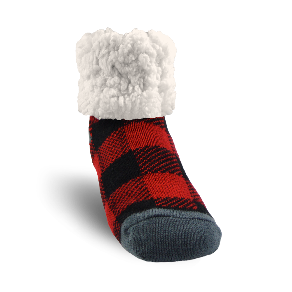 Pudus Slipper Socks - Red Lumberjack - Lounge Beauties