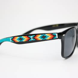 Ora Louise Turquoise Southwestern Beaded Sunglasses - UV 400 Protection Lens - Lounge Beauties