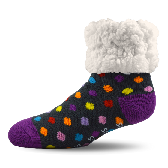 Pudus Slipper Socks - Polka Dot Party - Lounge Beauties
