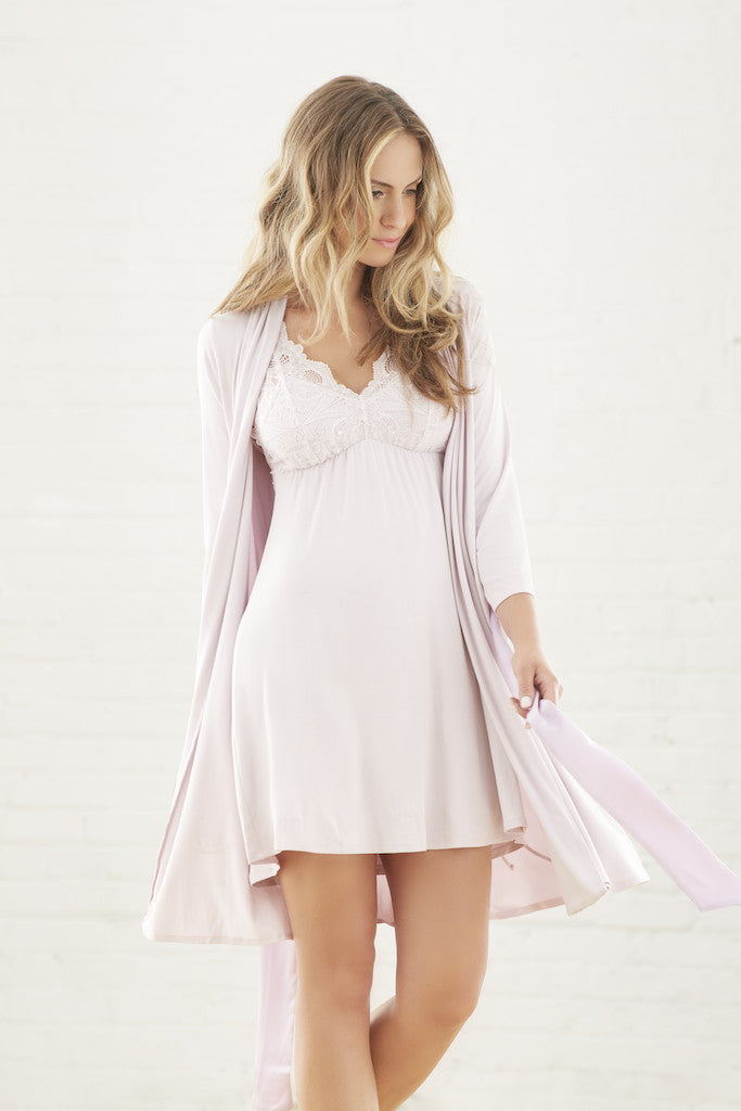 Fleur t Robe with Silk Ties in Morning Glow - Lounge Beauties 679371cbc