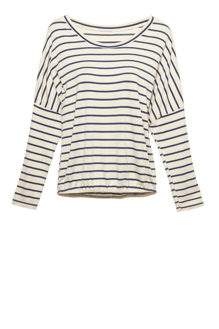 Eberjey Lounge Stripes Slouchy Tee - Lounge Beauties