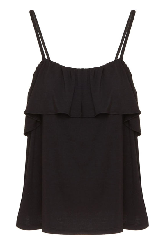 Eberjey Ivy Flounce Cami in Black