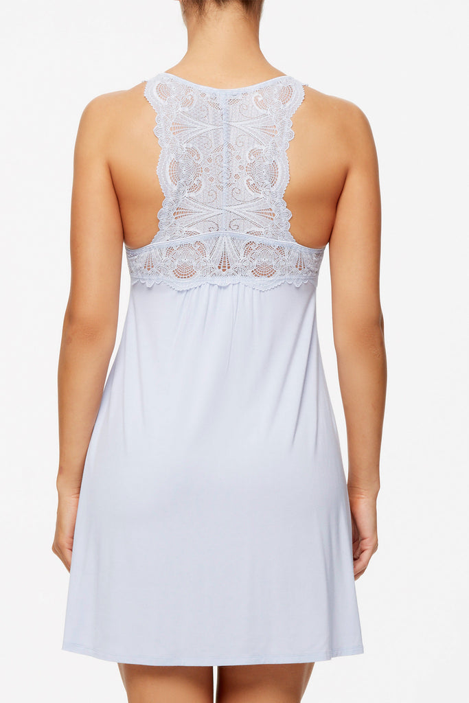 Fleur't Lace T-Back Chemise in Halogen - Lounge Beauties