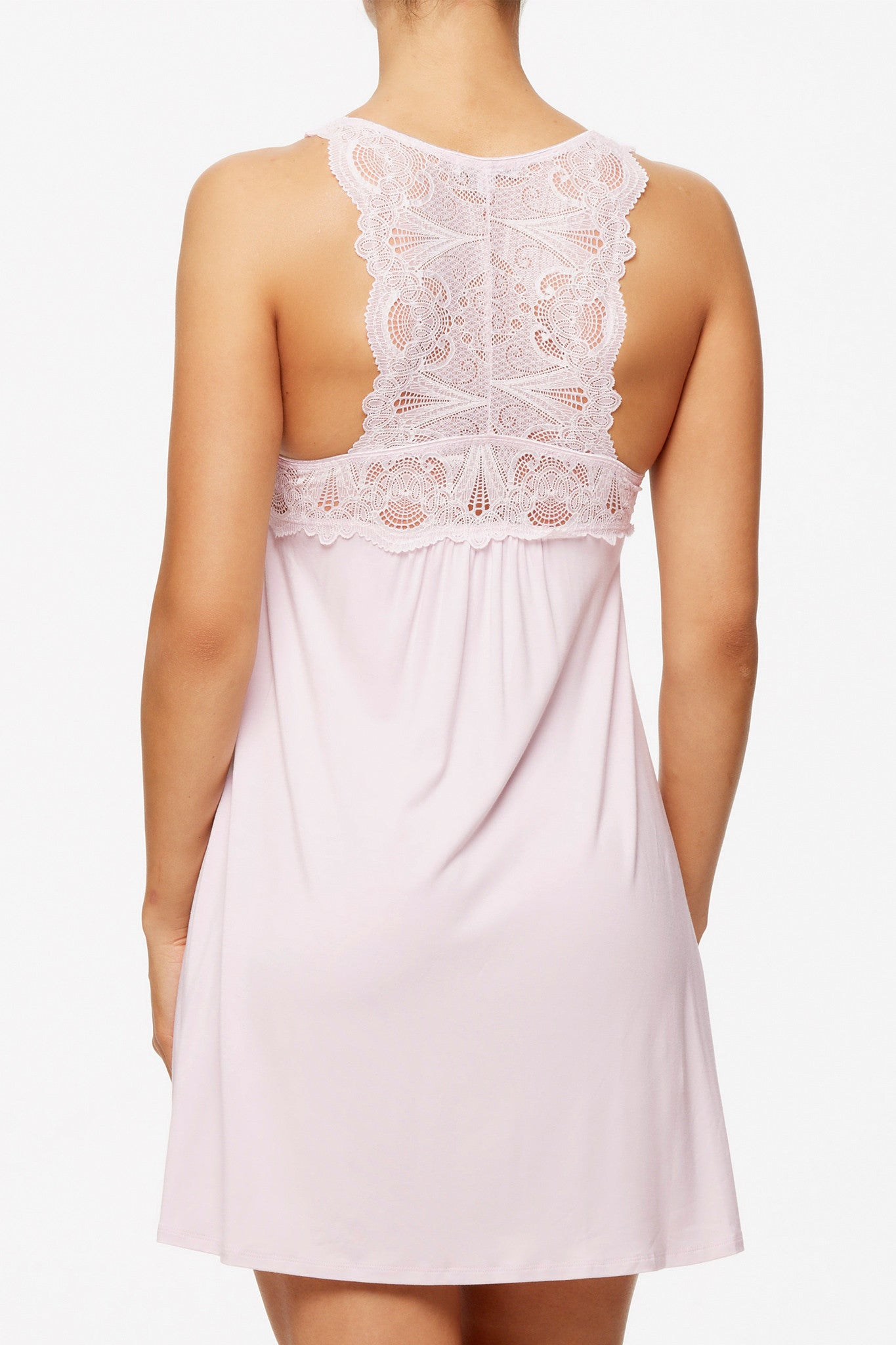 Fleur t Lace T-Back Chemise in Morning Glow - Lounge Beauties 60d161f84